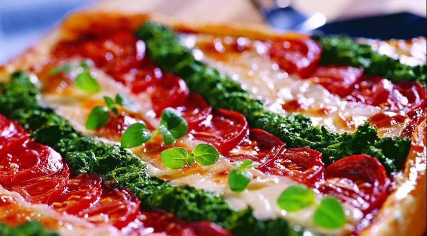 Овощная пицца с томатами, баклажаном и зеленым луком - рецепты джуренко