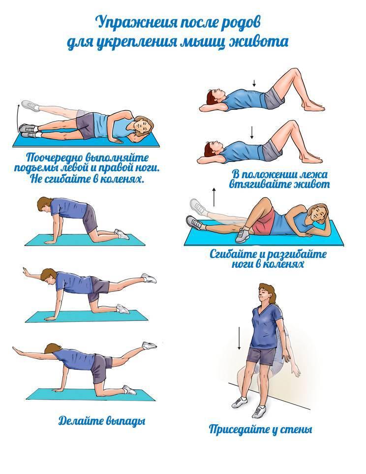 О животе после кесарева сечения: как быстро убрать при помощи упражнений