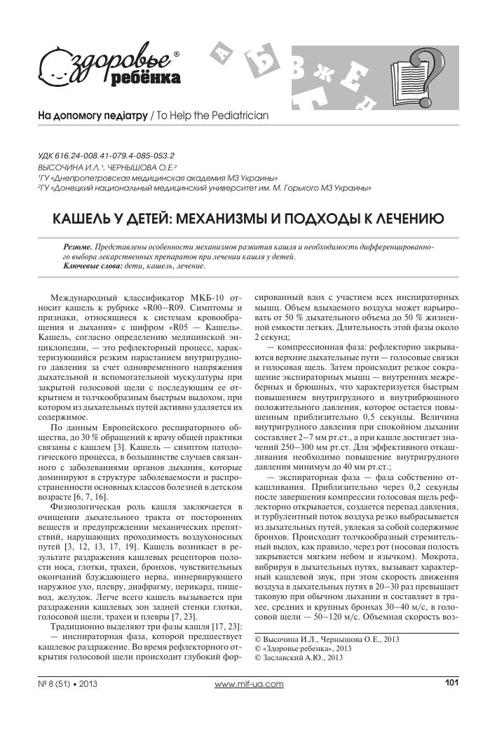 Кашель. причины, виды и лечение кашля
