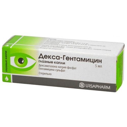 Капли глазные гентамицин для лечения зрения