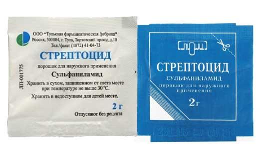 Стрептоцид — инструкция по применению, цена