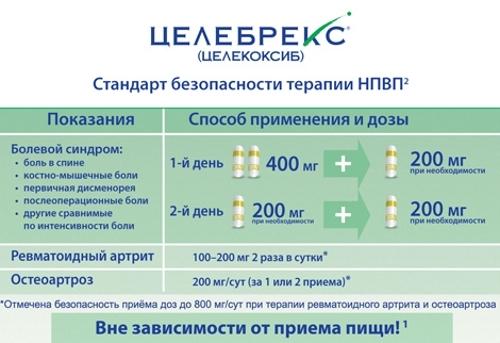Таблетки 200 мг целебрекс: инструкция по применению