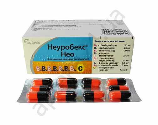 Неуробекс нео. инструкция по применению капсул, таблеток. состав витаминов для волос, курс лечения, побочные эффекты
