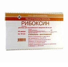 Препарат рибоксин: инструкция по правильному применению медикамента