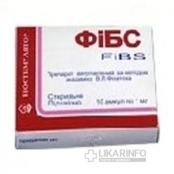 Фибс: инструкция по применению, показания, противопоказания, побочные эффекты, аналоги