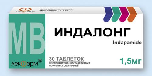 Тиазиноподобный диуретик индапафон: инструкция по применению и отзывы