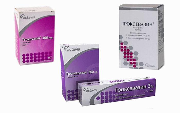 Описание троксевазина в капсулах — состав и действие препарата