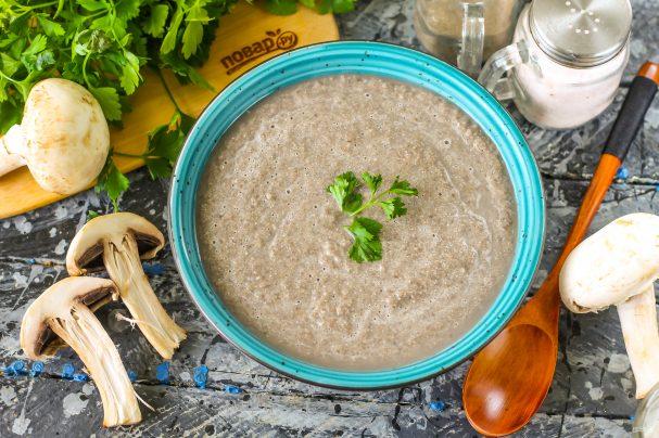 Грибной постный суп