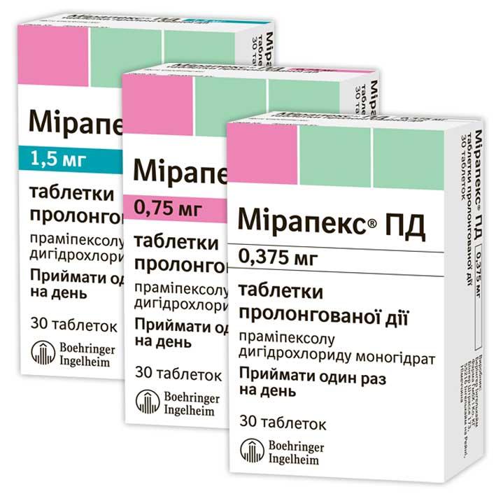 Мирапекс: инструкция по применению