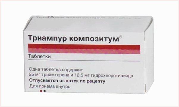 Как принимать мочегонные таблетки триампур композитум при высоком давлении и гипертонии?
