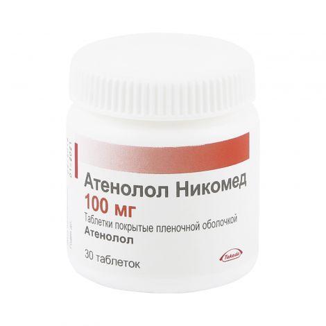 Таблетки атенолол никомед при повышенном давлении