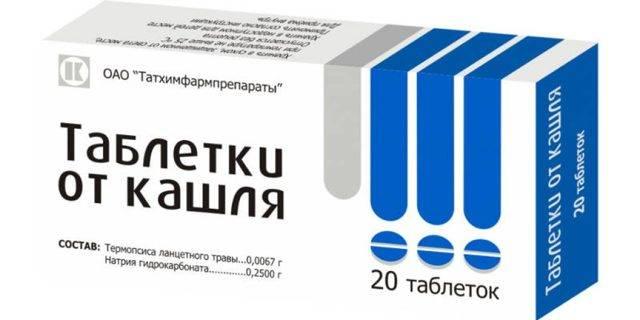 Таблетки от кашля с термопсисом: инструкция по применению
